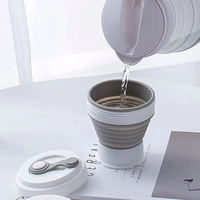 Travel essentials invisible braces concealed beauty era angel portable folding cup soaking cup 320ml
