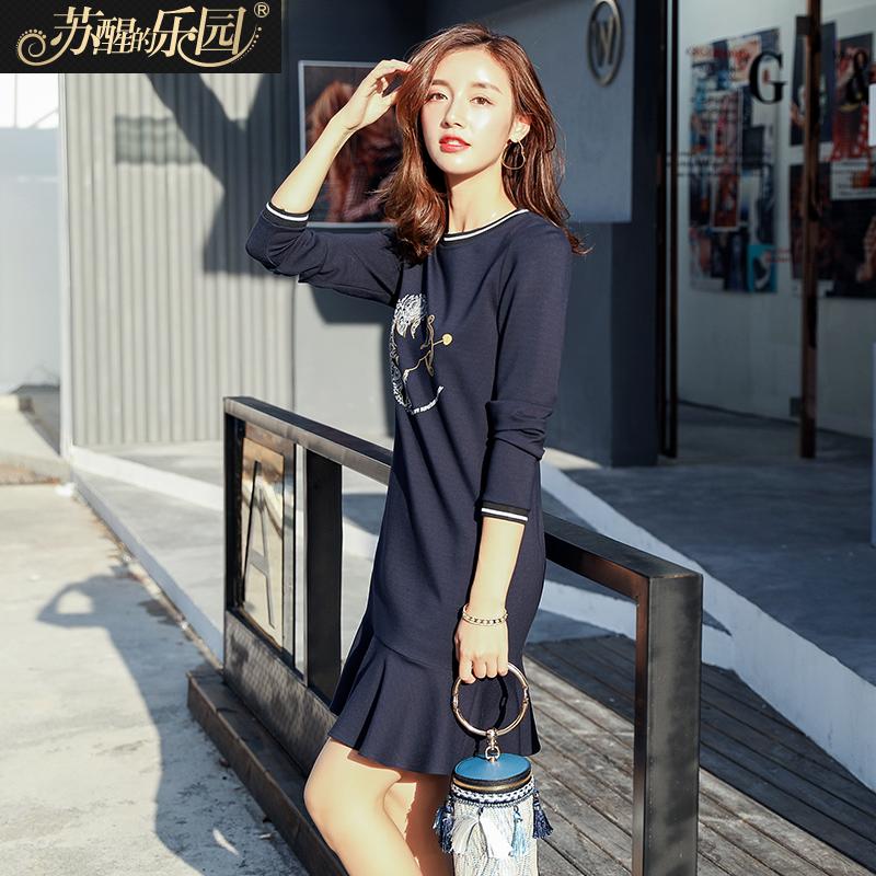 韩版休闲卫衣裙