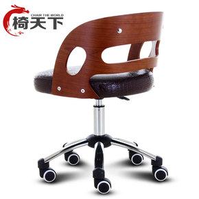 时尚电脑椅家用办公椅子实木升降转椅靠背会议休闲座椅皮质老板椅
