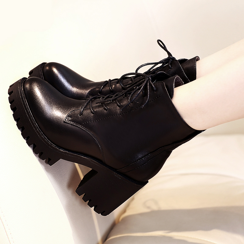 厚底高跟棉鞋
