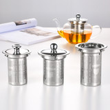 Ya Kungfu stainless steel tea filter foldable with lid is 304 filter new creative silicone tea filter tea cup filter