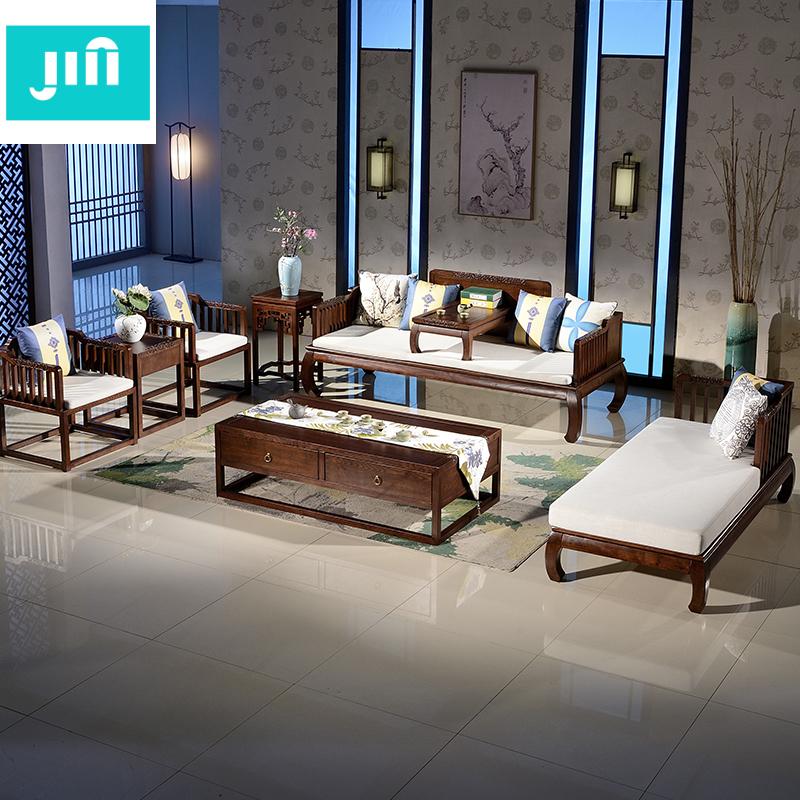 实木雕刻客厅沙发