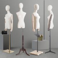 唯力固服装女模特架橱窗展示人台立体裁剪服装模特道具女半身模特