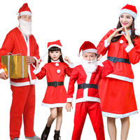 Santa Claus Costume Adult Set Christmas Dress Set Boys and Girls Children Christmas Costumes Christmas Clothes