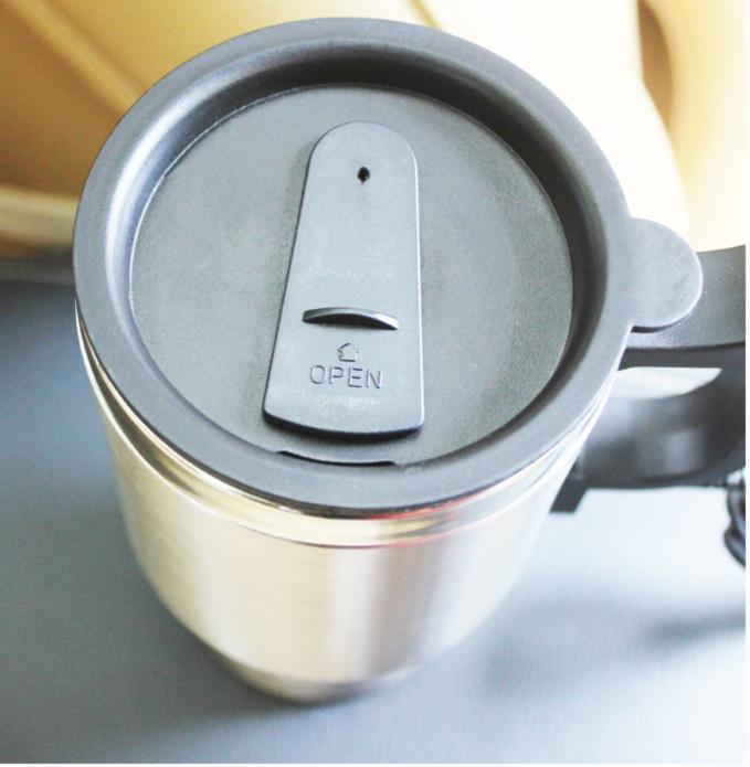 不锈钢车载电热杯加热水杯车载保温杯 汽车用加热水杯烧水杯水壶