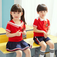 Children's school uniform summer class service kindergarten clothing summer short-sleeved primary school uniform summer sportswear cotton suit