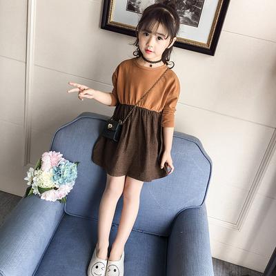 女童秋装连衣裙宝宝2-3四4五5七6八7十8岁小女孩洋气长袖公主裙子