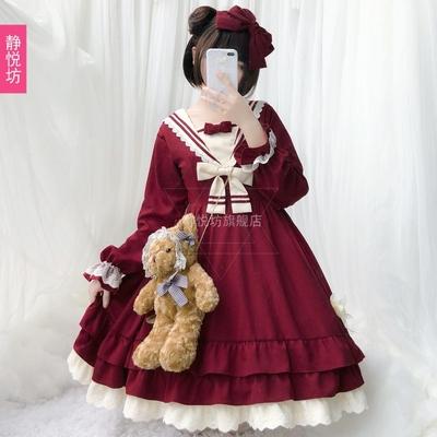 新款秋装女可爱萌日常Lolita洋装长袖连衣裙洛丽塔萝莉日系软妹裙