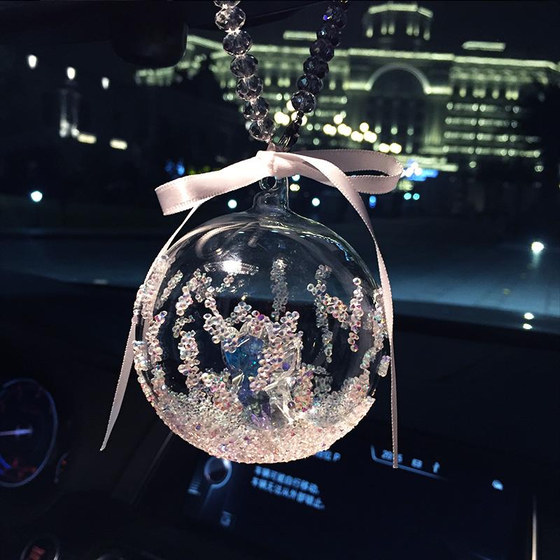 水晶车饰挂件雪花