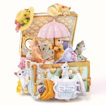 木质留声机音乐盒八音盒天空之城创意生日礼物送男女友情人节礼品