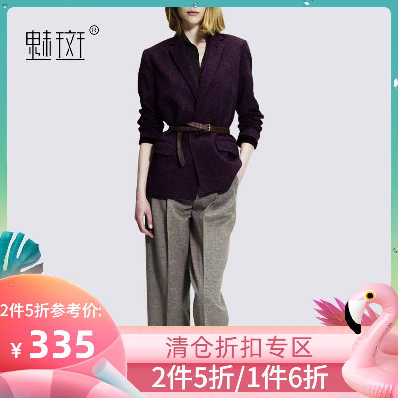 魅斑御姐范女神套装小西装西服时尚洋气职业套装女休闲裤子两件套