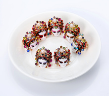 Retro-ancient Chinese wind knife Madan personality creative ring female jewelry Chao Ren Peking Opera Facebook Ring Ethnic Wind Accessories