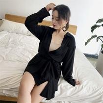 自制大码女胖mm新款2018秋装长袖衬衣性感V领女人味收腰百搭衬衫