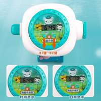 Wang Wang team submarine small column projection electronic watch puzzle puppy blocks cartoon children's luminous vibrato toys
