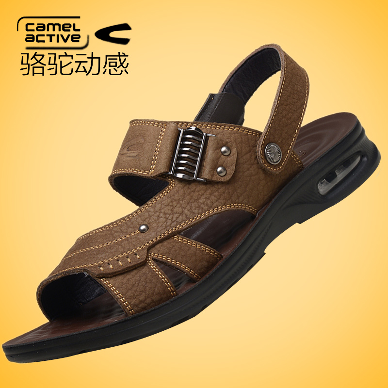 韩版潮男皮凉鞋