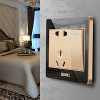 International electrician 86 wall panel concealed with five holes socket black 5 hole usb switch socket home wall