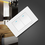 International Electrical Wall Power Switch Socket Panel 118 Magnolia Blanc Double Open Control