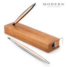 德国Modern永恒笔木底座不用墨水的老不死笔金属笔商务礼品