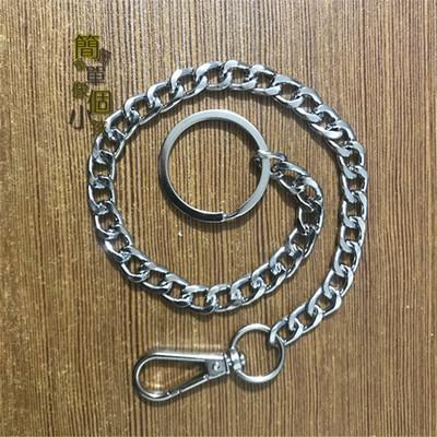 防丢钥匙扣钥匙链吊牌链广告牌链条结实粗链条防盗扣圈环包邮