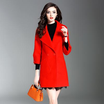 毛呢大衣女装红色多少钱