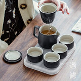 Floating cup Kung Fu tea set home small teapot set ceramic office teapot teapot teacup set collection tea set