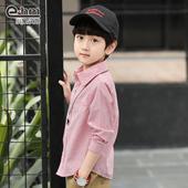 男童纯棉衬衫 衬衫 儿童长袖 小象汉姆童装 韩版 2019春装 新款 男童衬衣