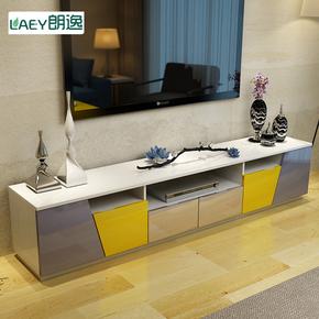钢琴烤漆彩色电视柜茶几组合简约现代客厅电视机柜 地柜 矮柜