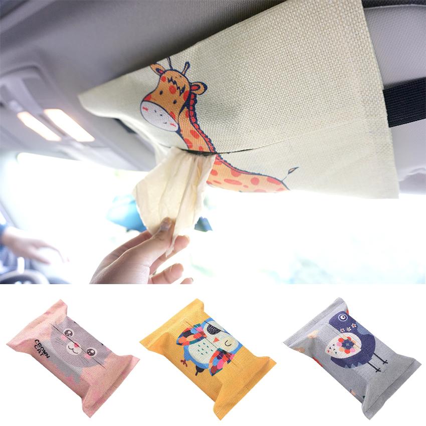 车用纸巾套家车两用车载纸巾盒可爱卡通汽车抽纸套创意车内用品
