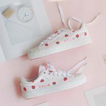 春季新款女鞋韩版街拍小白鞋学生板鞋厚底白鞋港味帆布鞋