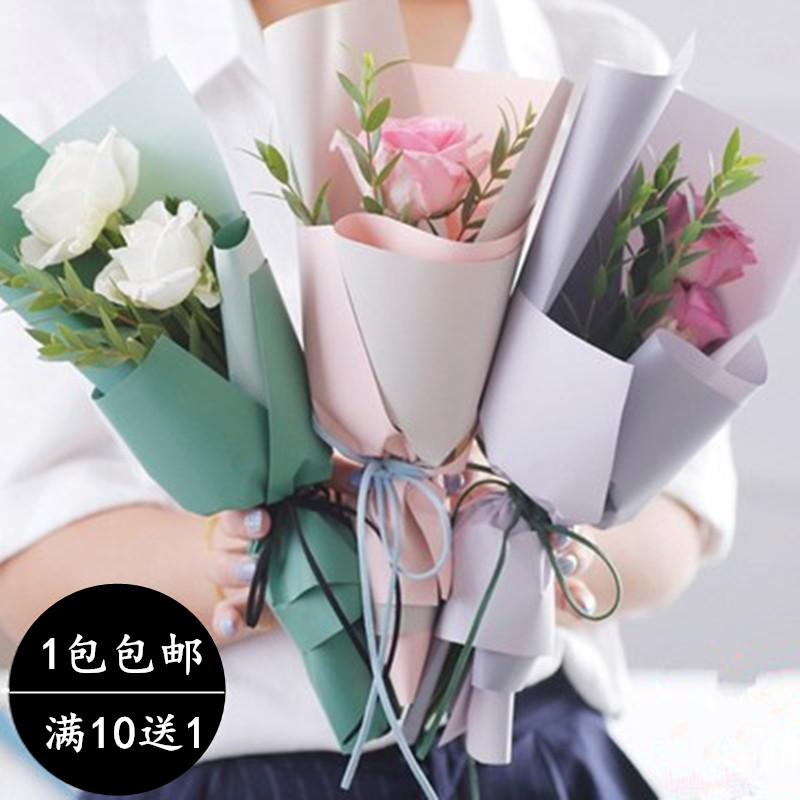 新款鲜花包装纸材料双面双色欧雅纸韩式花束包装纸防水包花纸