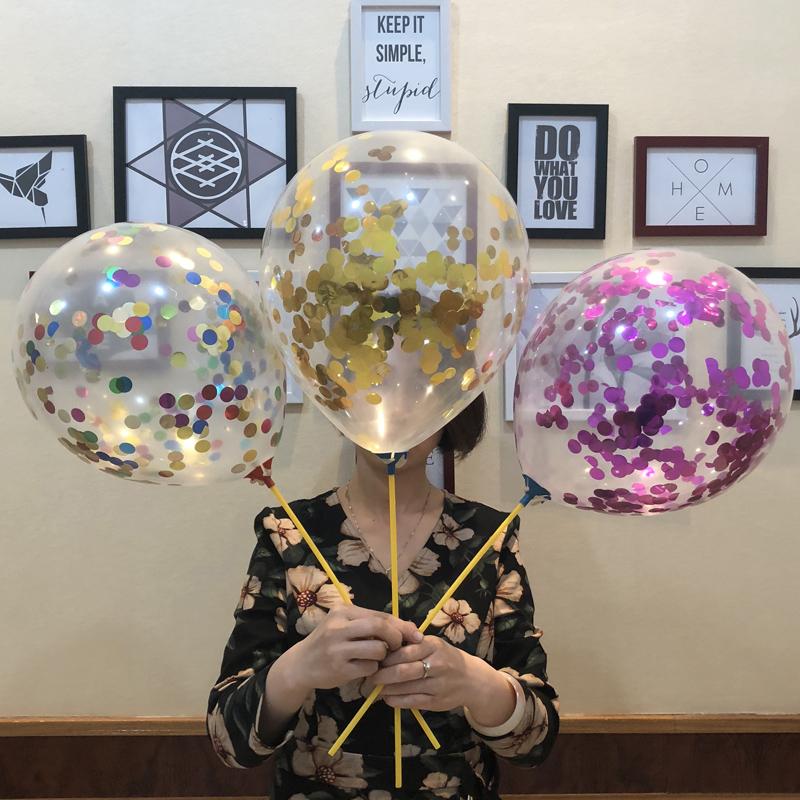 透明亮片气球网红泡沫填充微商地推扫码街吸粉线下推广小礼品神器