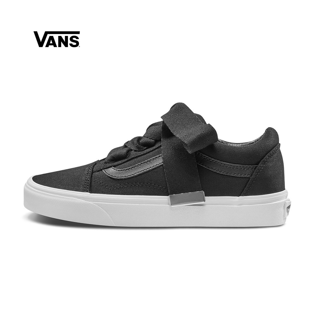 Vans范斯 经典系列 Old Skool帆布鞋 低帮女子黑色新款官方正品