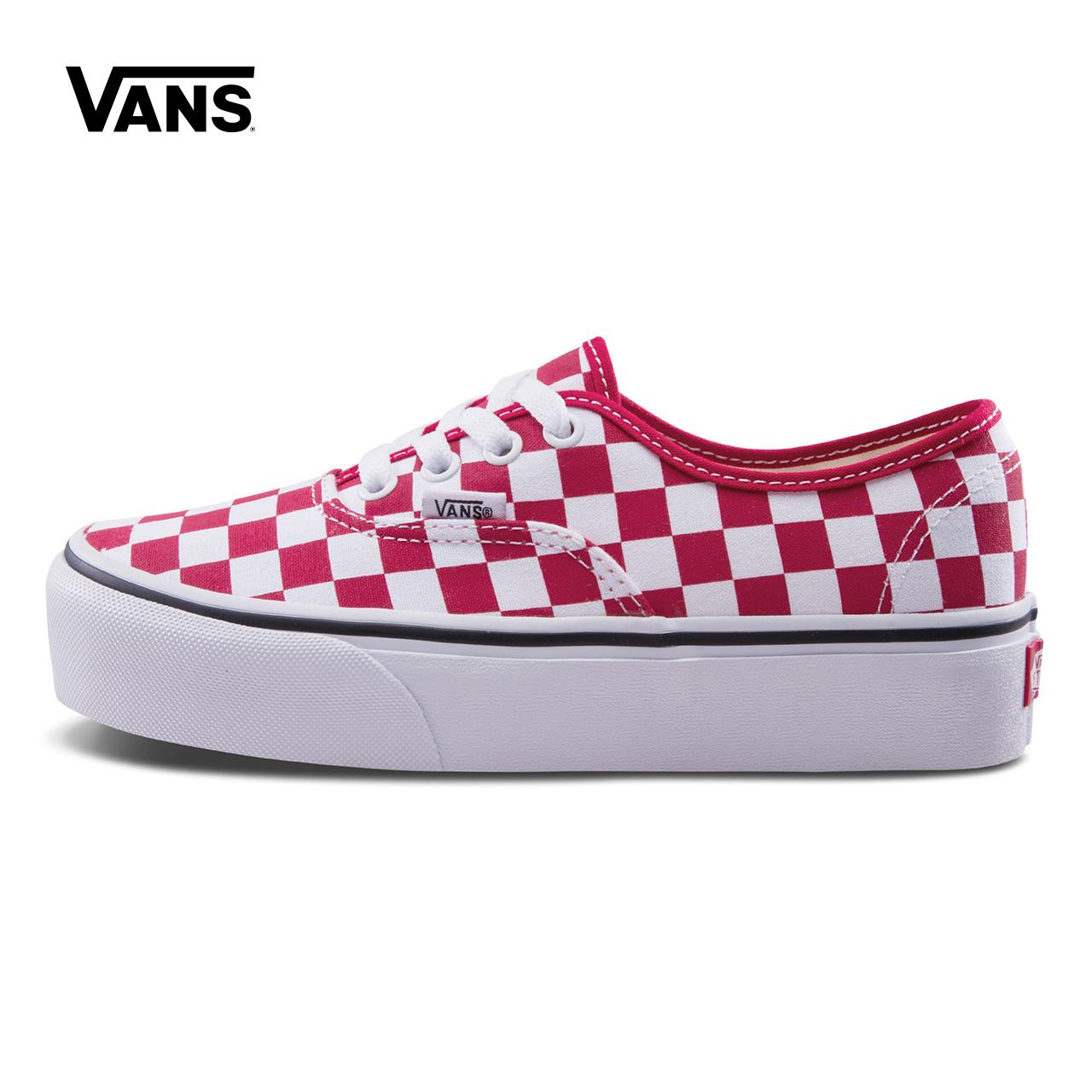 Vans/范斯秋季红/白女款帆布鞋|VN0A3AV8S4E