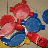Color threading pipe pvc round four-way / lamp position box / various specifications color 10/16/20