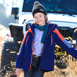 Sporland children's outdoor jacket boys and girls plus velvet warm three-in-one two-piece suit big boy jacket