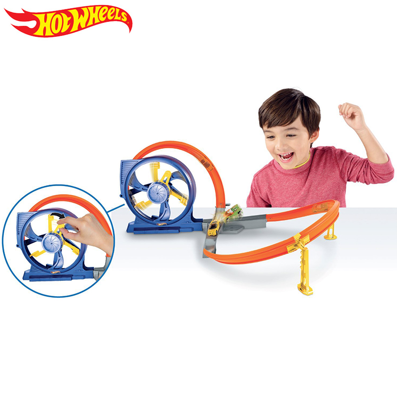 hot wheels hot little sports car track set stereo rounding track DNN72 male