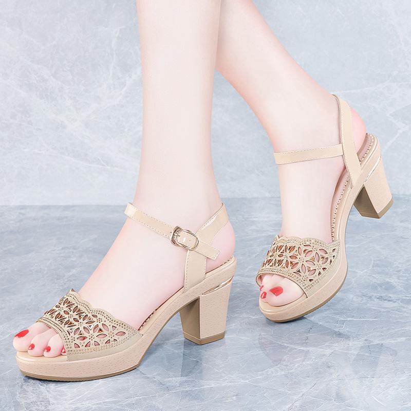 公主粗跟女鞋