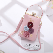 Bag Girl Pearl banquet bag three-dimensional flower bag Korean version oblique handbag fashion banquet bag with cheongsam bag