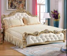 European style cotton quilt, no bed, bed skirt, warm and thickened, pure crystal cashmere and COTTON BEDSPREAD cover.