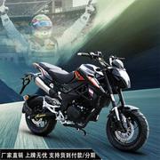 新陵摩托车大跑车新品上市150小暴龙怪兽助力机车M3猴子特技公仔