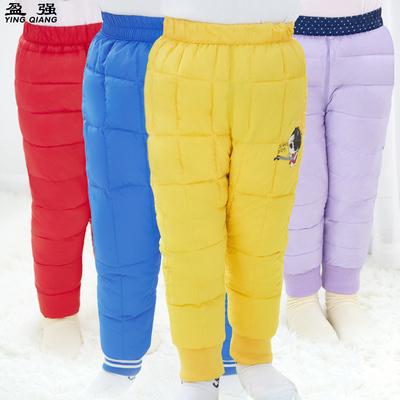糖果色1-3岁儿童裤子宝宝内胆棉裤男童女童保暖冬裤 可外穿内穿