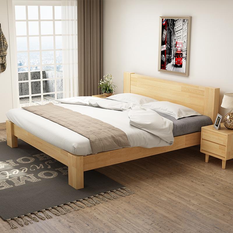 时尚橡木床