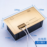 Stage dedicated plug-in microphone network audio multimedia stage junction box copper ground socket open ground plug