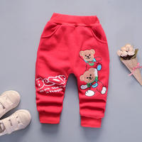 Baby plus velvet long pants 2018 new trousers winter wear 0-1-3 years old children boys baby children tide children pants