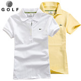 Golf clothes women's short-sleeved t-shirt summer golf women's sunscreen slim breathable cotton lapel polo shirt