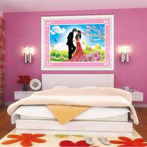 青飞5D立体幸福约定珍爱一生十字绣结婚情侣客厅卧室人物有钻石画
