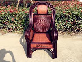 高档大藤椅子加宽加粗老人休闲高靠背椅子电脑办公椅领导透气腾椅