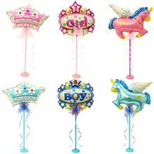 生日百天周岁宴餐桌气球布置道具桌飘气球立柱底座卡通迷你气球