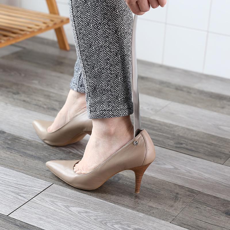 女鞋拔不锈钢抽鞋器加长把长柄鞋拔子男鞋把子提鞋器穿鞋鞋拔家用