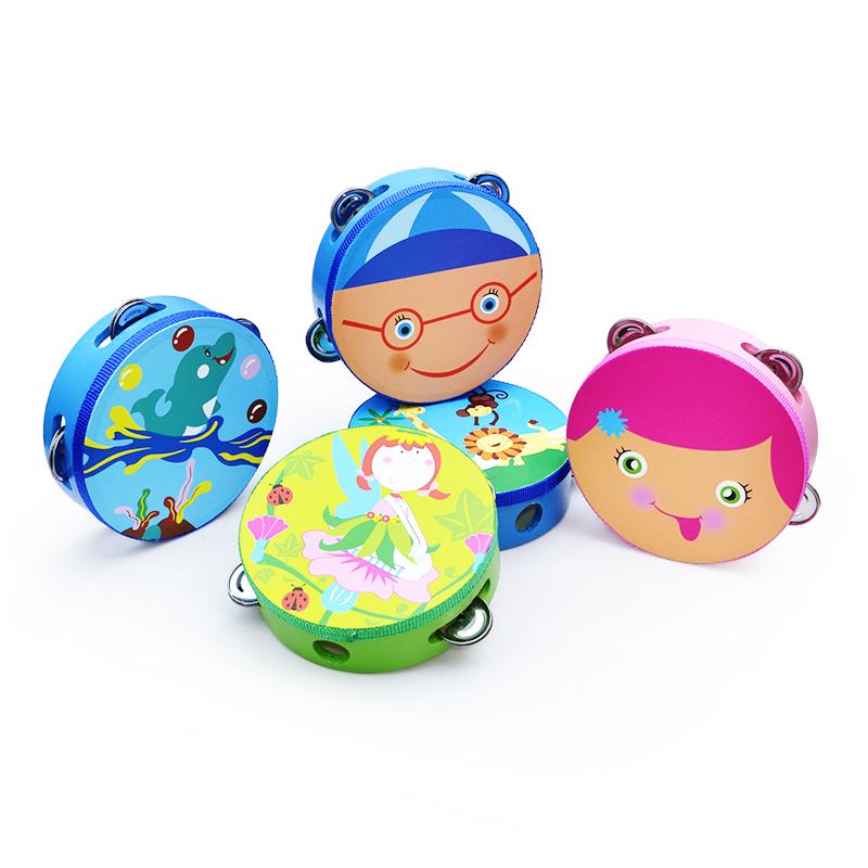 网童奇贝儿童手拍鼓手铃鼓摇铃小乐器铃鼓幼儿园老师用表演手鼓